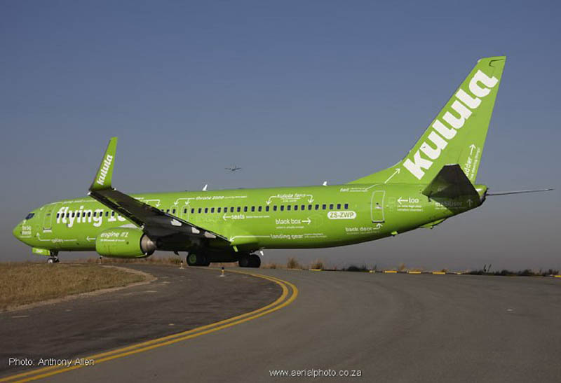 kulula flying 101 plane decals funny design 1 This Airline has the Best Fleet of Planes Ever!