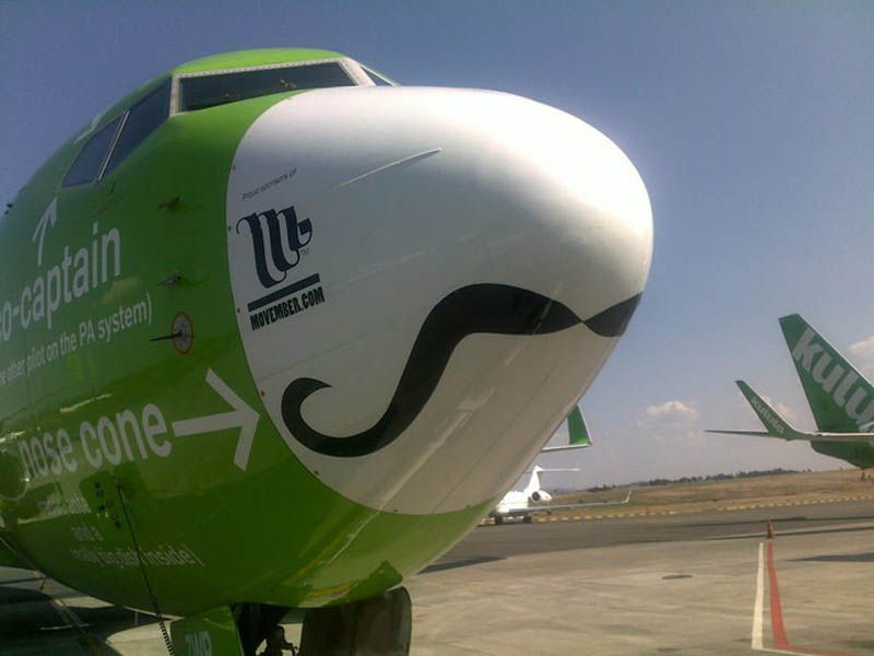 kulula movember nose plane 1 This Airline has the Best Fleet of Planes Ever!