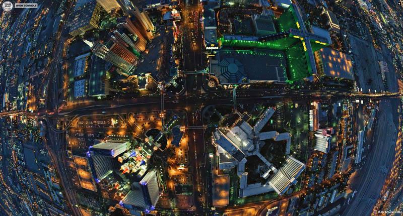 las vegas from above aerial panorama 2 Top Ten 360 Panoramas of Cities Around the World