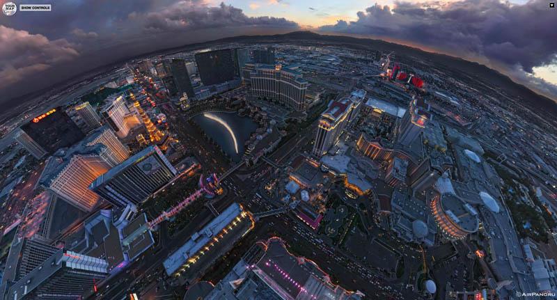 las vegas from above aerial panorama 3 Top Ten 360 Panoramas of Cities Around the World