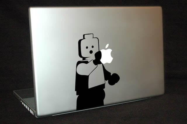 lego man macbook decal sticker 50 Creative MacBook Decals and Stickers