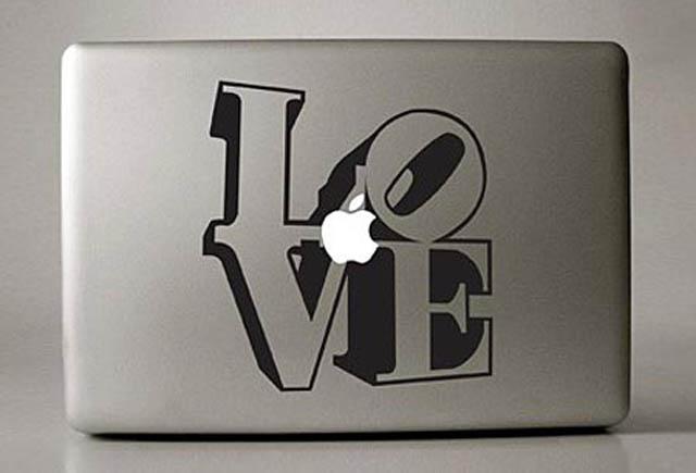 love macbook decal sticker 50 Creative MacBook Decals and Stickers