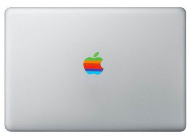 macintosh logo macbook decal sticker 50 Creative MacBook Decals and Stickers