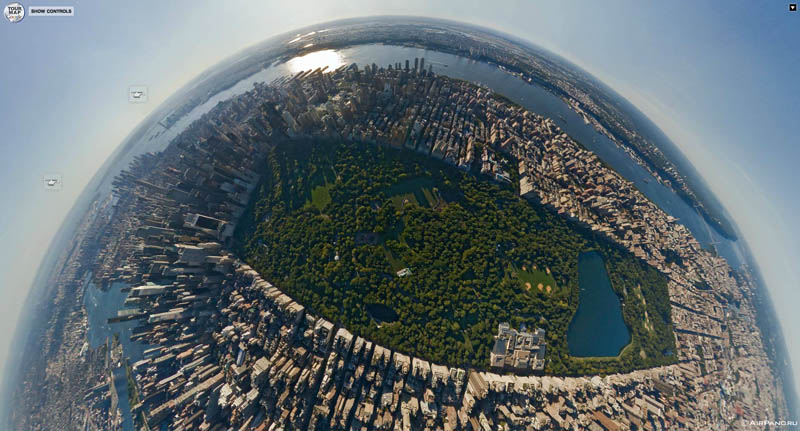 manhattan new york city aerial from above 1 Top Ten 360 Panoramas of Cities Around the World