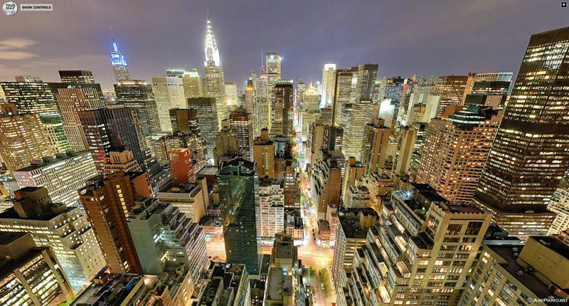 manhattan new york city aerial from above 2 Top Ten 360 Panoramas of Cities Around the World