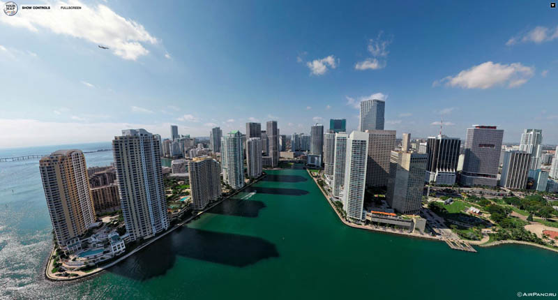 miami florida from above aerial panorama 3 Top Ten 360 Panoramas of Cities Around the World