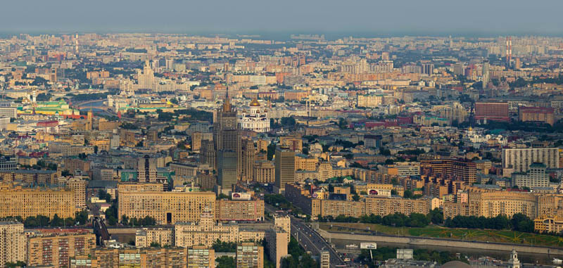 moscow russia from above aerial 1 Top Ten 360 Panoramas of Cities Around the World