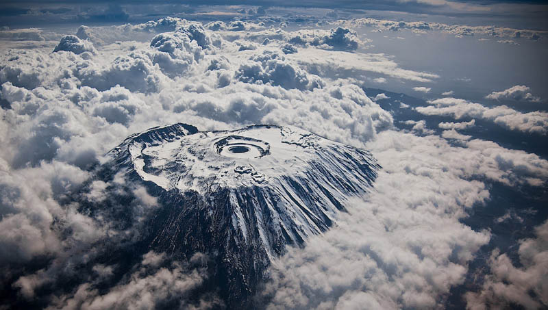 mount kilimanjaro aerial from above The Top 75 Pictures of the Day for 2012
