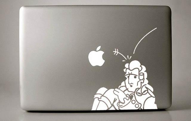 newton macbook decal sticker 50 Creative MacBook Decals and Stickers