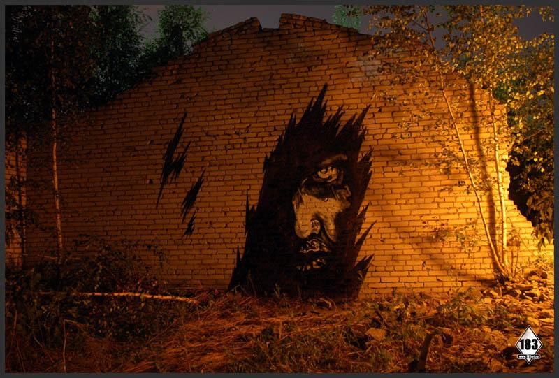 pavel p183 street art russian banksy banksi 12 16 Fresh Pieces by Russian Street Artist P183