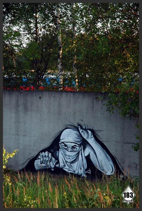 pavel p183 street art russian banksy banksi 14 16 Fresh Pieces by Russian Street Artist P183