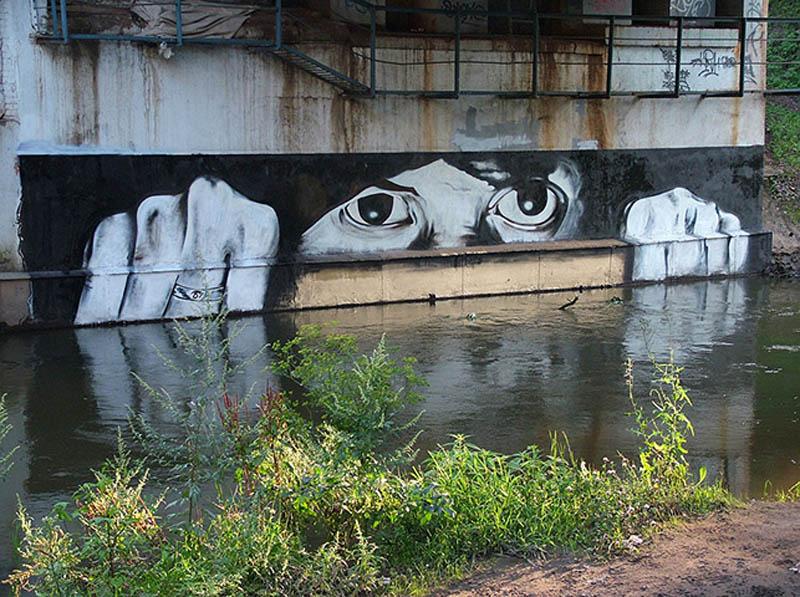 pavel p183 street art russian banksy banksi 17 16 Fresh Pieces by Russian Street Artist P183