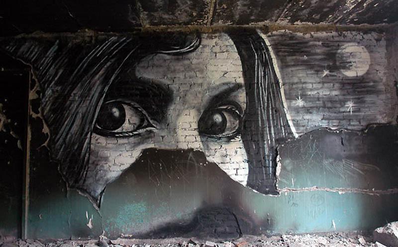 pavel p183 street art russian banksy banksi 2 16 Fresh Pieces by Russian Street Artist P183