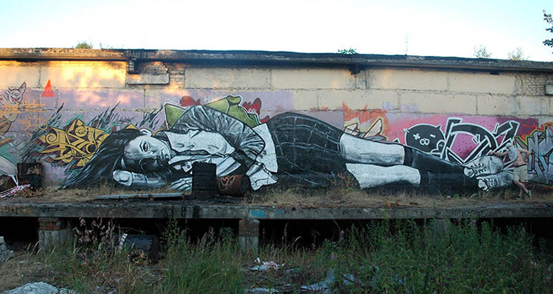 pavel p183 street art russian banksy banksi 22 16 Fresh Pieces by Russian Street Artist P183