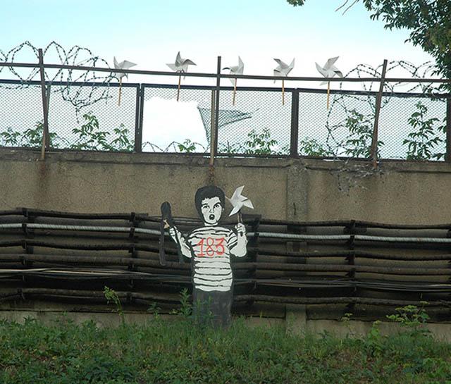 pavel p183 street art russian banksy banksi 23 16 Fresh Pieces by Russian Street Artist P183