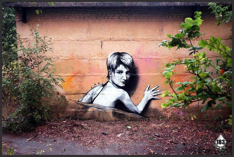pavel p183 street art russian banksy banksi 9 16 Fresh Pieces by Russian Street Artist P183