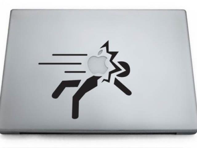 portal macbook decal sticker 50 Creative MacBook Decals and Stickers