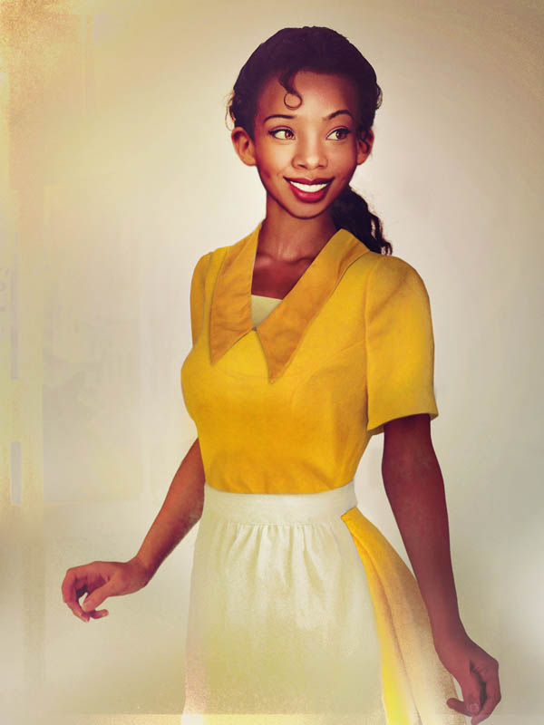 real life disney character tiana princess and the frog What Female Disney Characters Might Look Like in Real Life
