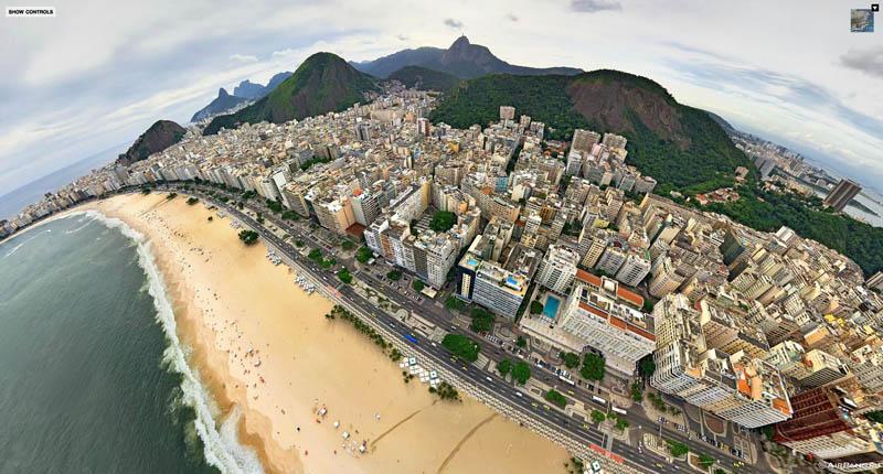 rio de janeiro brazil aerial panorama from above 3 Top Ten 360 Panoramas of Cities Around the World