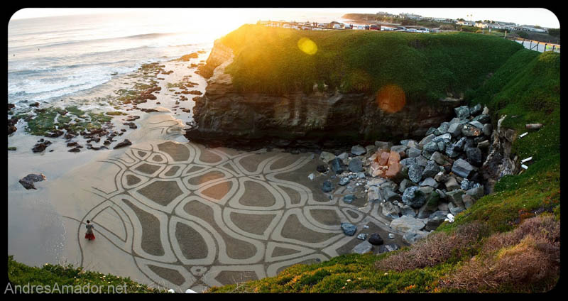 sand beach art andres amador 4 The Incredible Beach Art of Andres Amador