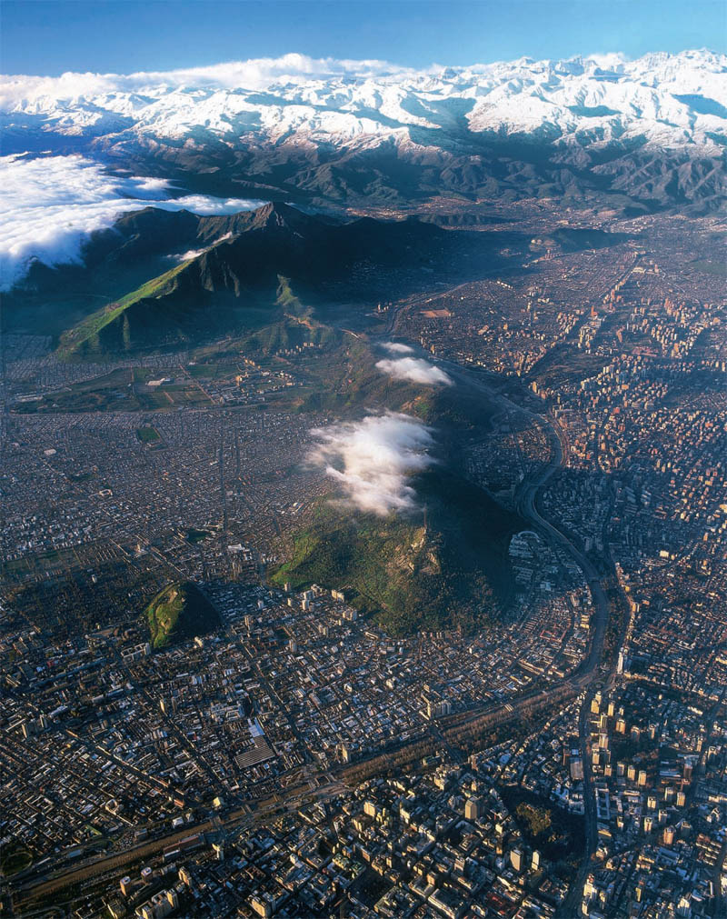 santiago chile from above aerial photograph Picture of the Day: Santiago, Chile from Above