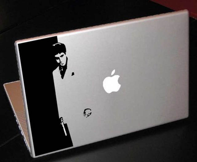 scarface macbook decal sticker 50 Creative MacBook Decals and Stickers