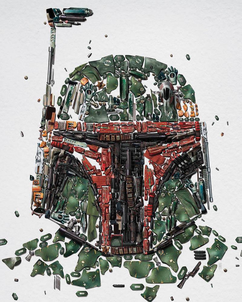 star wars identities poster bobba fett 2 Star Wars Identities Posters Show What Characters Are Made Of