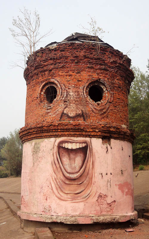 Painting Faces to Bring Buildings to Life