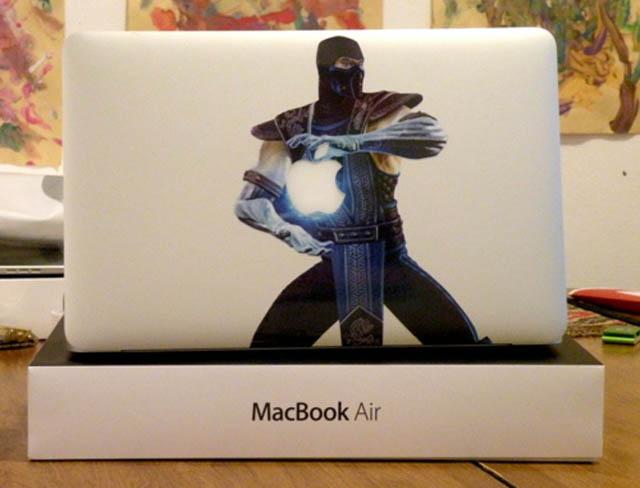 sub zero macbook decal sticker 50 Creative MacBook Decals and Stickers