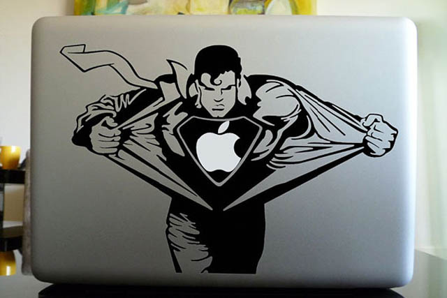 superman macbook decal sticker 26 Creative Business Cards That Arent Even Cards
