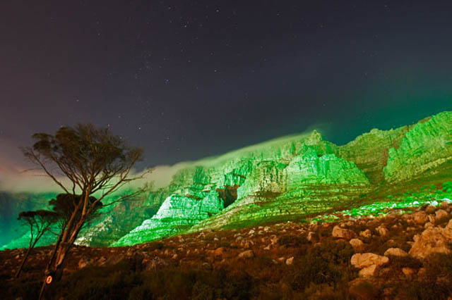 table mountain cape town south africa green st patricks 12 Places Around the World That Turn Green for St. Patricks Day