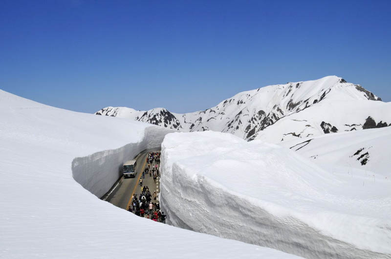 tateyama kurobe alpine route snow corridor 20 meters 65 ft walls 7 The 65 Foot (20m) Snow Corridor in Japan