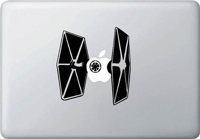 tie fighter star wars macbook decal sticker 50 Creative MacBook Decals and Stickers
