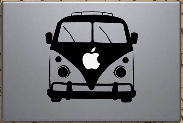 vw camper van macbook decal sticker 50 Creative MacBook Decals and Stickers