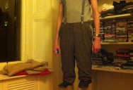 Picture of the Day: 7 Footer Goes as Short Guy on Stilts for Halloween
