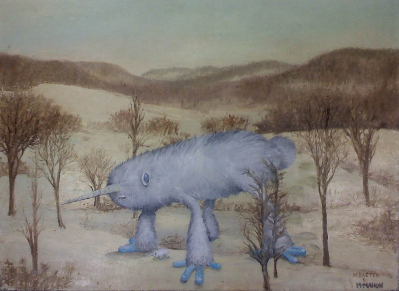 adding monsters to thrift store landscape paintings chris mcmahon 5 Adding Monsters to Thrift Store Paintings