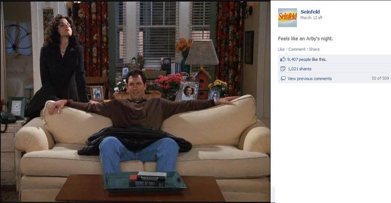 arbys night seinfeld 50 Glorious Moments on Seinfeld