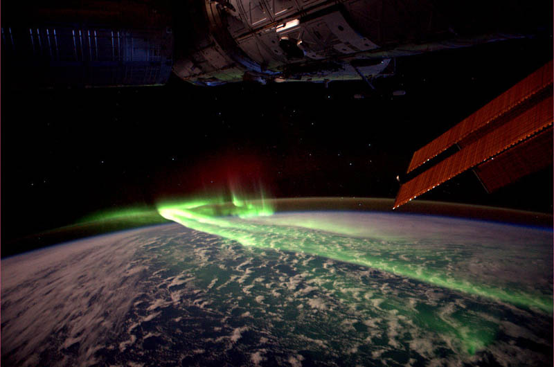 aurora australis soutern lights from spacc iss The Top 75 Pictures of the Day for 2012