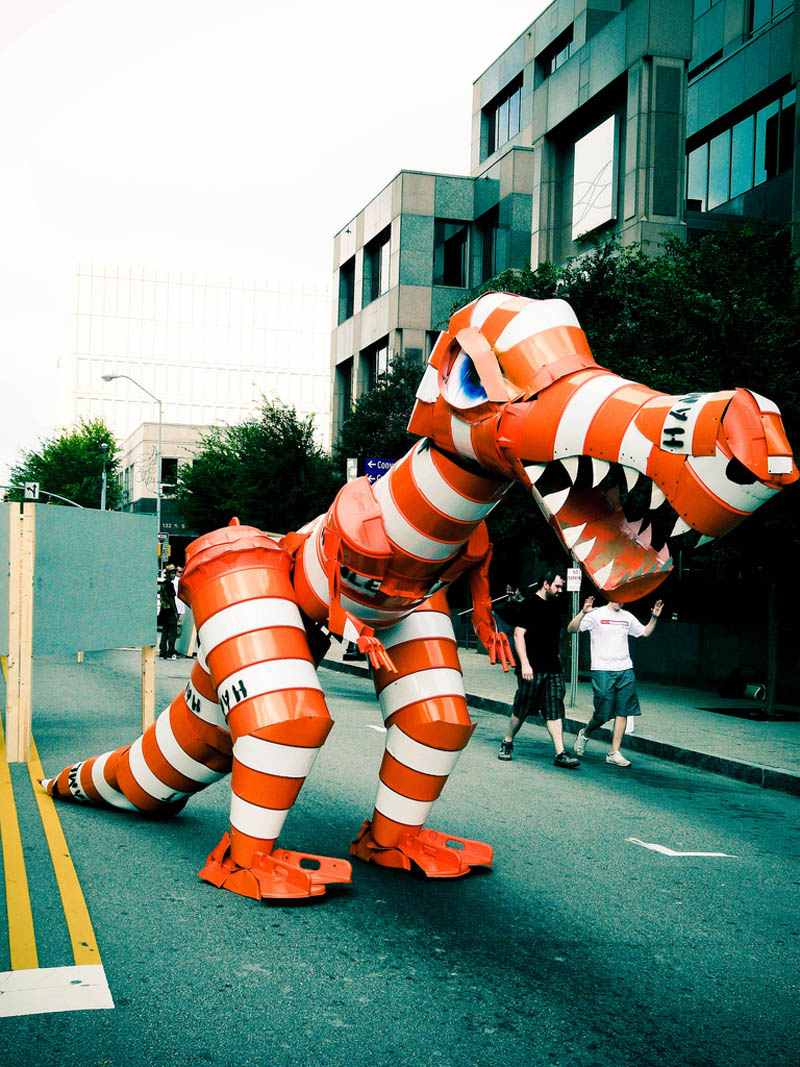 barrel monsters sculptures joe joseph carnevale 1 Sculptures Made From Everyday Objects
