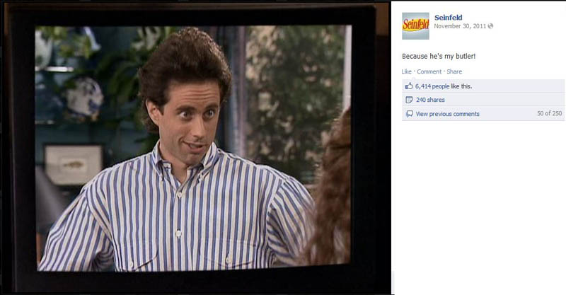 because hes my butler seinfeld 50 Glorious Moments on Seinfeld