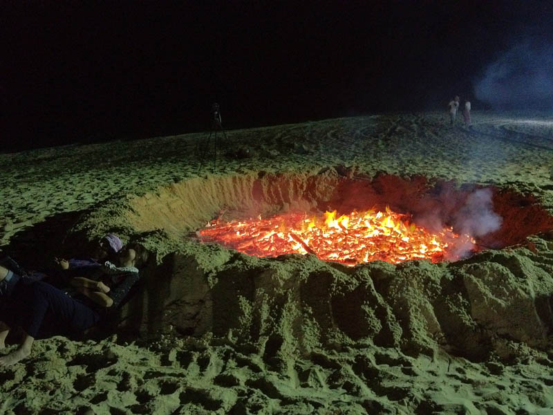 bonfire volcano on the beach Picture of the Day: Volcano Fire Pit on the Beach