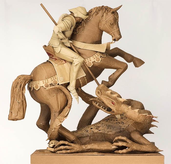 cardboard art sculptures chris gilmour 26 30 Amazing Sculptures Made out of Cardboard