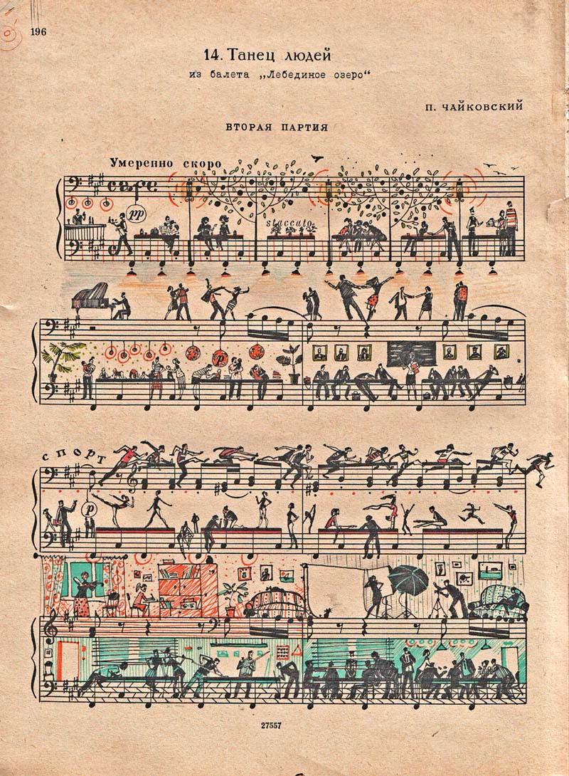 drawing art on sheet music bringing to life by people too 2 Using Art to Bring Sheet Music to Life