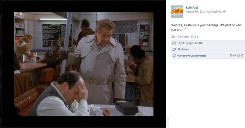 festivus seinfeld 50 Glorious Moments on Seinfeld