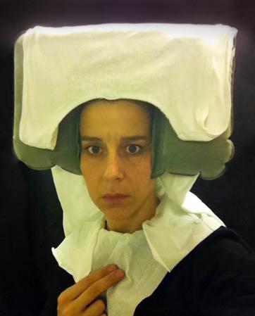 flemish portraiture recreated in airplane bathroom nina katchadourian 5 How Photographers Cure Boredom on Long Flights