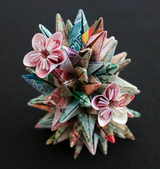 geometric shapes made from currency kristi malakoff 3 Geometric Shapes Made from Currency