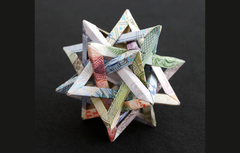 Geometric Shapes Made from Currency