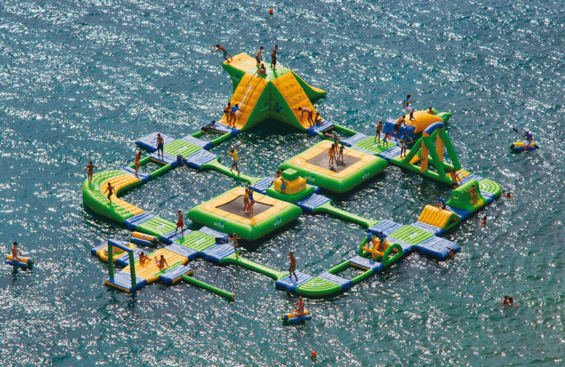 giant inflatable water parks wibit sports modular 12 Check Out This Hot Tub Tug Boat