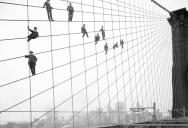 Picture of the Day: Hanging Out on the Brooklyn Bridge, 1914