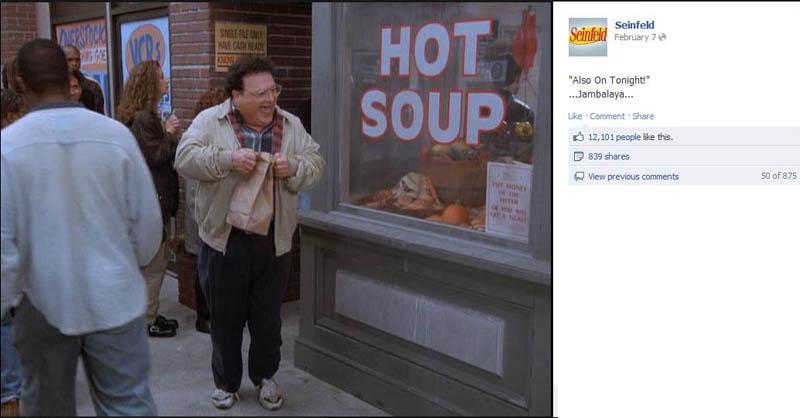 jambalaya seinfeld 50 Glorious Moments on Seinfeld
